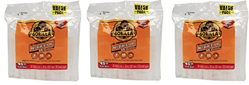 Gorilla, Hot Glue Sticks 4 In., Full Size, 135 Count by Gorilla