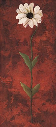 (Perfect Effect Canvas ,the Reproductions Art Decorative Canvas Prints Of Oil Painting 'a Flower In Red Background', 12x27 Inch / 30x69 Cm Is Best For Bedroom Gallery Art And Home)