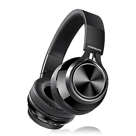 Jiebleum Auriculares Bluetooth de Diadema Inalámbricos,Plegable con Micrófono Manos Libres y Hi-Fi Sonido Estéreo con 3.5 mm Audio Jack con Mic: Amazon.es: ...