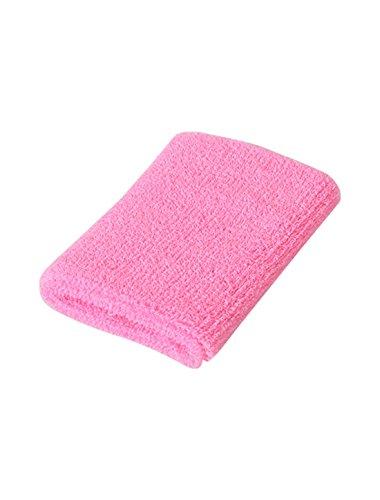 Amazon.com : eDealMax Atlética de algodón Tela de toalla gruesa Protector de la muñeca Banda de sudor DE 10 paquetes rosa : Sports & Outdoors