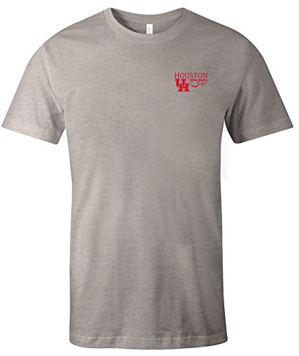 NCAA Houston Cougars Adult NCAA Hand Type Short sleeve Triblend T-Shirt,XXL,Oatmeal