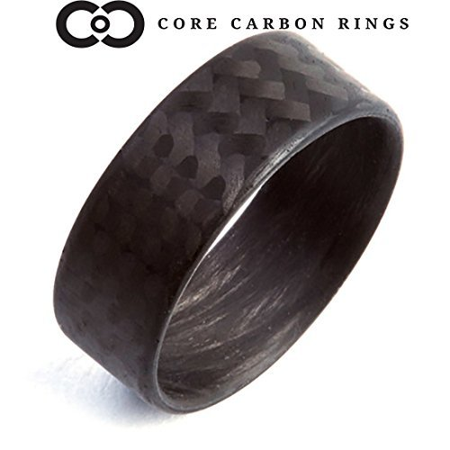 - Men's or Women's 100% Carbon Fiber Twill Matte Ring - Handcrafted -Lightweight - Black Band - Custom Band widths