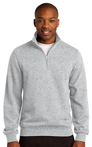 (Sport-Tek Men's Colorfast 1/4-Zip Wiastband Sweatshirt Athletic Heather)