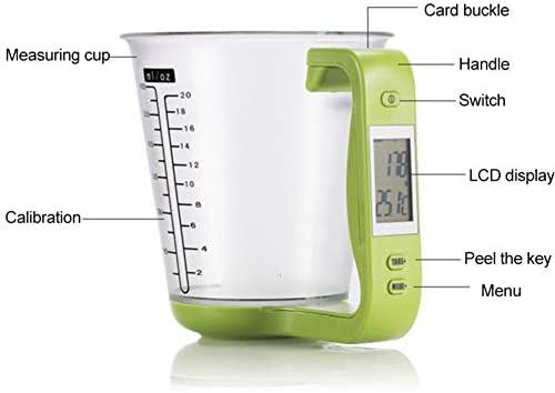 Bilancia Con Bilancia Portatile Per Uso Domestico da cucina Elettronica Strumento di Misura Con La Maniglia Per I Bambini,Verde