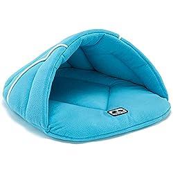 DZT1968 Soft Fleece Winter Warm Pet Puppy Bed Small Dog Cat Sleeping Bag Christmas Cave Beds