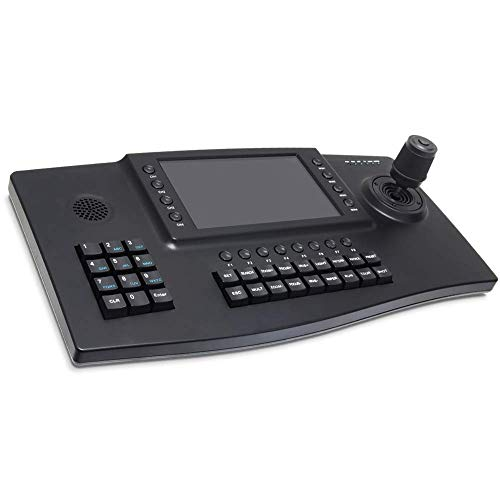 "IP PTZ Controller,LEFTEK Onvif Network Keyboard 4D Joystick with 7"" Colour LCD Display for High Speed PTZ Dome IP Cameras"