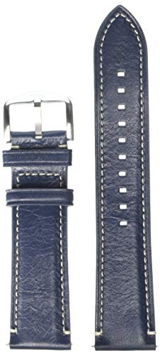 Fossil S221255 22mm Leather Calfskin Blue Watch Strap