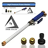 DBR Tech TM Hydro Jet High Pressure Power Washer, Pressure Washer Gun Whit Garden Hose End, Hydrojet Power Washer Nozzle, Wash