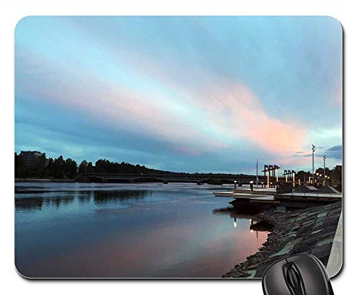Mouse Pads - SkellefteA Sunset River Water Himmel