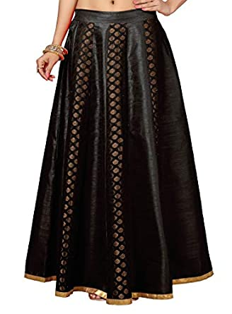 STUDIO Shringaar Women's Brocade Skirt Lehenga (Free Size)