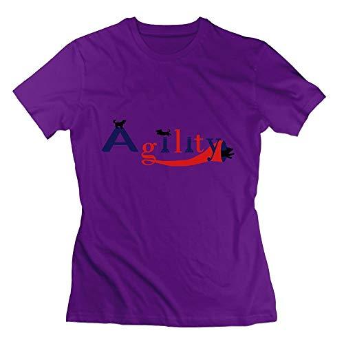 Agility Three Dogs Womens Tshirts ()