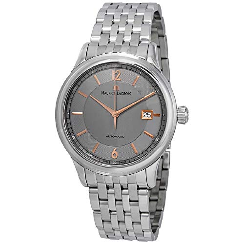 Maurice Lacroix Les Classiques Grey Dial Stainless Steel Men's Watch LC6098-SS002-320-1XG (Certified Refurbished)
