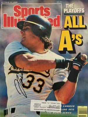 - Jose Canseco Autographed Sports Illustrated Magazine - October 17, 1988 - Autographed MLB Photos