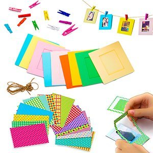 5 in 1 Giant Colorful Bundle Kit Accessories for Fujifilm Instax Mini 9/8 Camera - Assorted Accessory Pack of 120 Sticker Frames + 10 Plastic Desk Frames + 20 Hanging Frames + MORE by Deals Number One (Image #7)