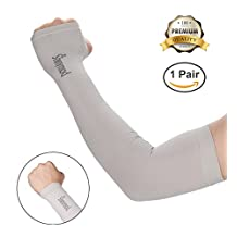Shinymod UV Protection Cooling Warmer Arm Sleeves Men Women Kids Sunblock Protective Gloves Running Golf Cycling Driving Long Tattoo Cover Arm Warmer