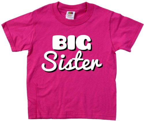 "Ann Arbor T-shirt Co. Little Girls' ""BIG SISTER"" 