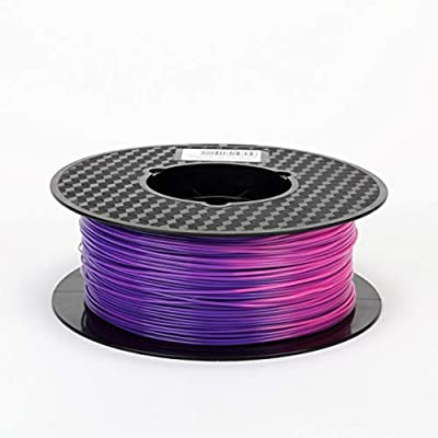 Purple Blue to Pink Color Changing with Temperature 3D Printer Filament PLA 1.75 mm 1 KG (2.2 LBS) Color Changing with Temperature PLA CC3D ZHUOPU
