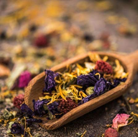 Dried Flowers and Herbs Accessories Decorations 8 Bags Set Dry Flowers Essential Supplies Rose Buds Lavender Chamomile…
