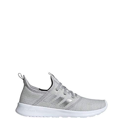 adidas Women's Cloudfoam Pure Running Shoe, Grey/Matte Silver/Grey, 11 Medium US