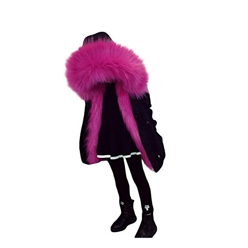 Girls Winter Coat Faux Fox Fur Liner Detachable Jackets Toddler Children's Outerwear Boy Thicken Warm Parkas by Chuang