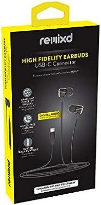 54e5f16ea98 Amazon.com: Emerge Tech ETHAUDC Remixed USB-C Earbuds, Black: Cell ...