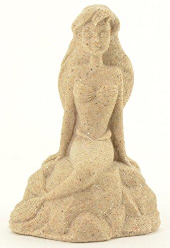 "Sand-Deco Sand Sculpture Figurine MER10 - Mermaid - 5.5"" Tall (Natural)"