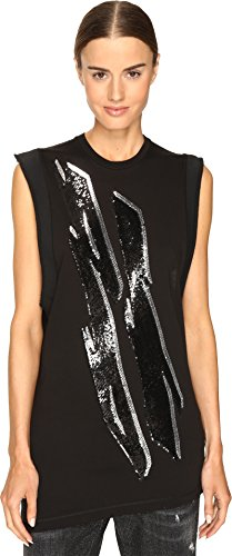 DSQUARED2 Women's Renny Glam Rock Sleeveless Jersey Dress Black (Dsquared2 Womens Clothing)
