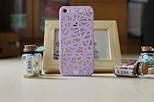 LYYF New Popular and Cute the Bird's Nest Hollow Out Hard Case/cover for Iphone 5/5s£šPurple£©