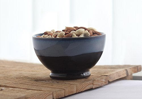 Snack Pottery - storeindya Handmade Ceramic Bowl Dessert Salad Fruit Porcelain Pottery Serving Bowl Kitchen Dining Serve Ware Accessory (Snack Bowl Collection)