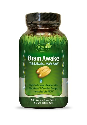 Supplément Irwin Naturals cerveau Awake Diet, 60 comte