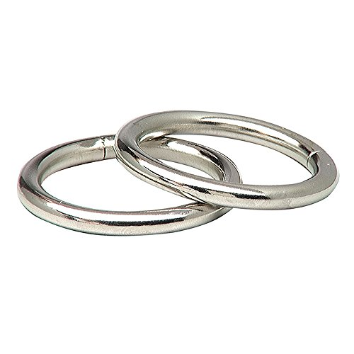 Lehigh 7066 1//4-Inch by 2-Inch Steel Welded Rings Nickel Plated 2-PacK
