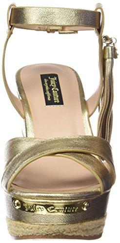 Juicy Couture Simone - Sandalias para mujer Dorado