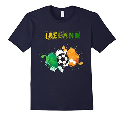 [Mens Soccer Ireland Irish Flag Watercolor Flag T shirt Country T Small Navy] (Navy Blue Irish Water)