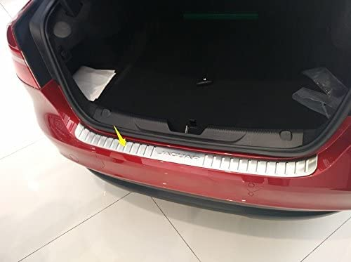 Edelstahl Ladekanntenschutz hintere Schutzplatte Sch/ützer Ladekannte f/ür Jaguar XE 16-17 1pcs