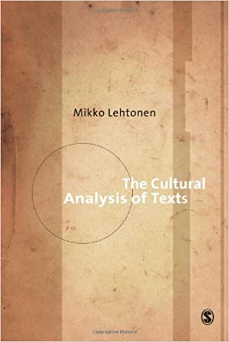 Book The Cultural Analysis of Texts