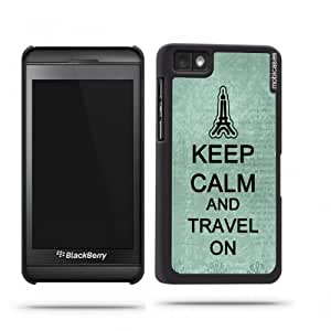 Keep Calm And Travel On Teal-Floral Google Nexus 4 Case - For Nexus 4