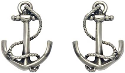 Stainless Steel Nautical Anchor Stud Earrings