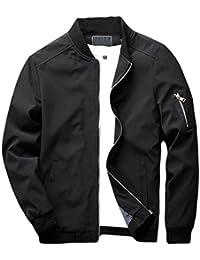 Men s Slim Fit Lightweight Softshell Flight Bomber Jacket Coat 18256160fa