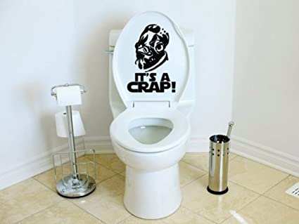 Its a crap toilet decal inspired by star wars admiral ackbar trap sticker