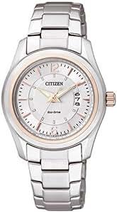 Citizen FE1014-56a - Reloj analógico de cuarzo para mujer, correa de acero inoxidable color plateado