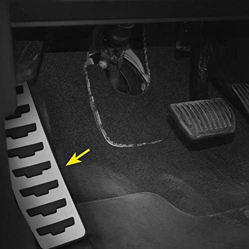 SQKJ NXSAM Auto acceleratore Freno Pedale della Frizione del poggiapiedi del Pedale Piastra di Copertura for Range Rover Evoque 2012-2019 dellautomobile della Copertura del poggiapiedi Car-Styling