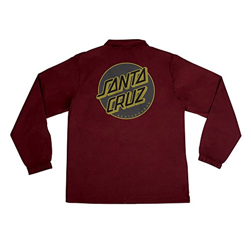 Santa Cruz Skateboards Other Dot Coach Windbreaker Men's Long Sleeve Jacket - Cardinal Red - Medium by Santa Cruz Skateboards