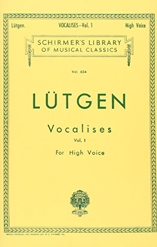 Vocalises (20 Daily Exercises) - Book I: High Voice