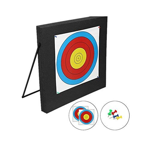 DDMARK AT-01 High Density Self Healing XPE Foam Portable 3D Achery Target with Metal Target Stand, 60X60X5cm