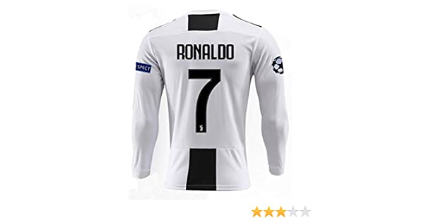 ddbfb3c07 Amazon.com  Jinpuw Juventus 18 19 Season Ronaldo  7 Mens Home Long Sleeve Soccer  Jersey   Armbands (S-XL)  Clothing