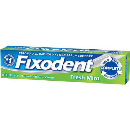 PACK OF 10 - Fixodent Complete Fresh Mint Denture Adhesive Cream, 2.4 oz