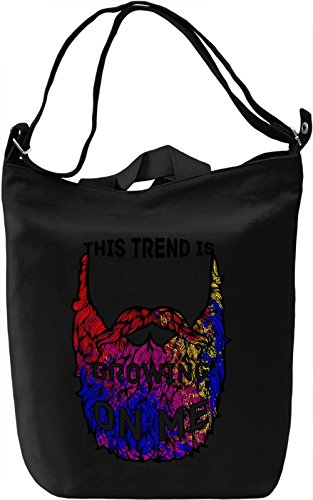 This Beard Is Growing On Me Borsa Giornaliera Canvas Canvas Day Bag| 100% Premium Cotton Canvas| DTG Printing|