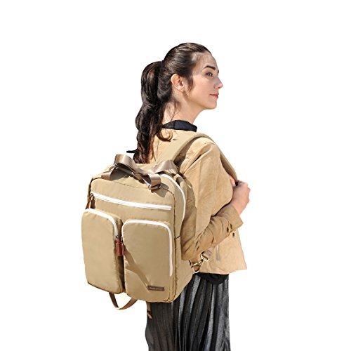 Bebamour Travel Backpack Diaper Bag Tote Handbag Purse