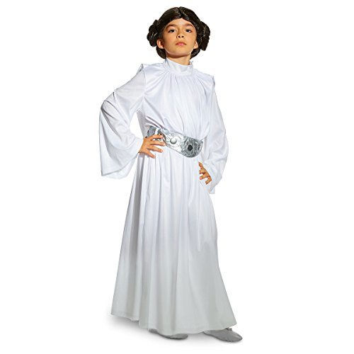 Disney Store Star Wars Deluxe Princess Leia Costume White Bun Wig - Girls (7/8) -