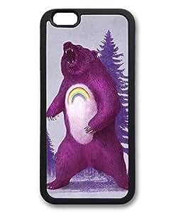 iPhone 6 Plus Case, iCustomonline Scare Bear Designs Case for iPhone 6 Plus (5.5 inch) Rubber Black
